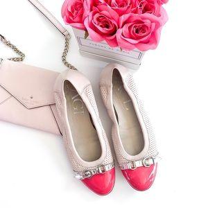 Attilio Giusti Leombruni Cap Toe Pink Ballet Flats